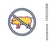 giving up meat rgb color icon....   Shutterstock .eps vector #1932312308