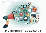 digital marketing concept.... | Shutterstock .eps vector #193231475
