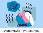 stress  depression  having... | Shutterstock .eps vector #1932330902