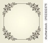 art nouveau square frame with... | Shutterstock .eps vector #1932332375