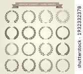 laurel wreaths collection in... | Shutterstock .eps vector #1932332378