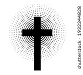 christian cross with abstract...   Shutterstock .eps vector #1932344828