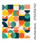 geometric vector poster print... | Shutterstock .eps vector #1932356762