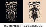 motorcycle vintage monochrome... | Shutterstock .eps vector #1932368702