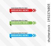 Tv Live News Bars Vector...