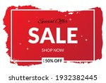 red sale poster  special offer.   Shutterstock .eps vector #1932382445