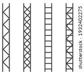 steel truss construction. metal ... | Shutterstock . vector #1932402275