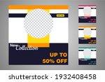 new set of editable minimal... | Shutterstock .eps vector #1932408458