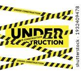 website under construction page ... | Shutterstock . vector #1932409478