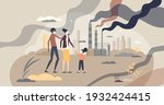 air pollution from factories... | Shutterstock .eps vector #1932424415