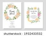soft watercolor roses wedding...   Shutterstock .eps vector #1932433532
