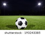 soccer ball on playing field... | Shutterstock . vector #193243385