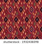 diagonal ikat stripes. zigzag... | Shutterstock .eps vector #1932438398