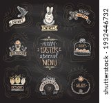 easter special menu set on a... | Shutterstock .eps vector #1932446732