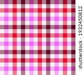 pink and red gingham. seamless... | Shutterstock .eps vector #1932450812