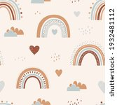 seamless childish pattern with...   Shutterstock .eps vector #1932481112
