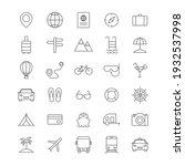travel line icons set. vocation ... | Shutterstock .eps vector #1932537998