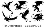 Dragon Silhouettes On The Whit...