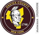 seal of oneida county  new york ... | Shutterstock .eps vector #1932549398