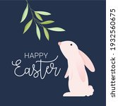 happy easter greeting card.... | Shutterstock .eps vector #1932560675