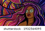 colourful psychedelic line art...   Shutterstock .eps vector #1932564095