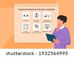 disadvantages of online... | Shutterstock .eps vector #1932564995