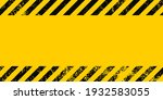 grunge yellow and black... | Shutterstock .eps vector #1932583055