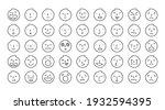 people' face.s emoticon  single ... | Shutterstock .eps vector #1932594395