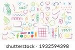 arrow  shape  brush style hand... | Shutterstock .eps vector #1932594398
