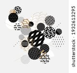 abstract modern geometric... | Shutterstock .eps vector #1932613295