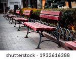 A Row Of Benches In The Odessa...