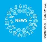 news sign round design template ...   Shutterstock .eps vector #1932624962