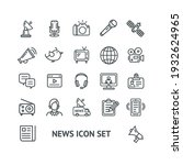 news sign thin line icon set... | Shutterstock .eps vector #1932624965