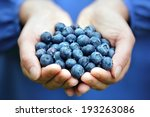 woman with handful of freshly... | Shutterstock . vector #193263086