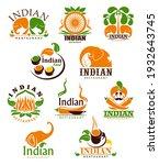 indian food restaurant vector...   Shutterstock .eps vector #1932643745