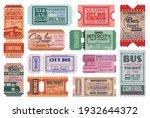 city bus ride retro tickets... | Shutterstock .eps vector #1932644372