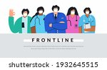 diverse group of doctors and... | Shutterstock .eps vector #1932645515