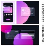 glassmorphism bank card in...