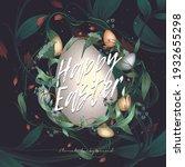 easter abstract illustrations.... | Shutterstock .eps vector #1932655298
