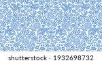 seamless floral lace background ...   Shutterstock .eps vector #1932698732