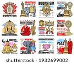 buddhism religion icons  buddha ...   Shutterstock .eps vector #1932699002