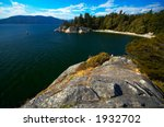 Overview of Vancouver WhyteCliff Bay sea and sky line. More with keyword group14k