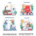 professional lawyer concept set.... | Shutterstock .eps vector #1932702575