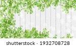 fresh green leaves spring... | Shutterstock . vector #1932708728