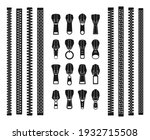 opening and closed zipper and... | Shutterstock .eps vector #1932715508