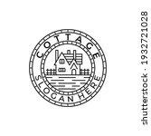 cottage line art emblem vintage ...   Shutterstock .eps vector #1932721028