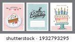 set of birthday greeting cards... | Shutterstock .eps vector #1932793295
