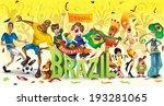 brazil football  soccer ... | Shutterstock .eps vector #193281065
