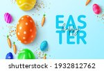 happy easter holiday banner.... | Shutterstock .eps vector #1932812762
