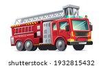 Vector Cartoon Style Fire...